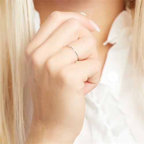585er Weißgold Ring für Damen mit Weißtopas von Unique