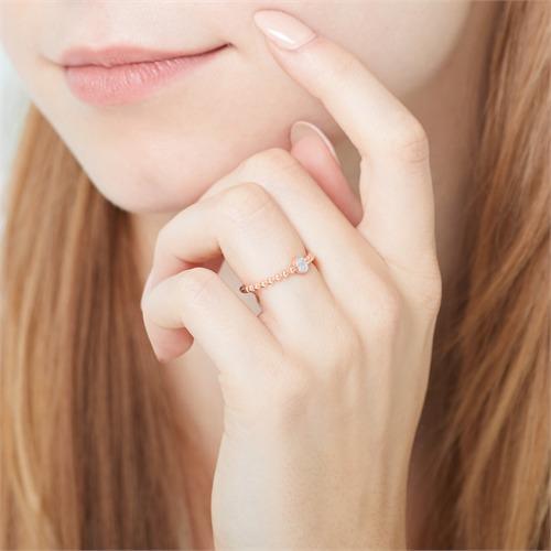Diamantring aus 14-karätigem Roségold
