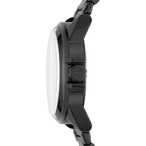 Uhr für Herren aus Edelstahl, schwarz