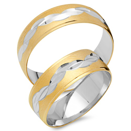 Ringe - Trauringe 333er Gelb Weissgold  - Onlineshop The Jeweller
