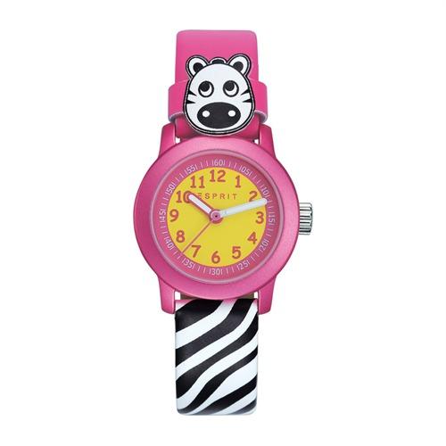 Kinderuhr pink schwarz-weiß