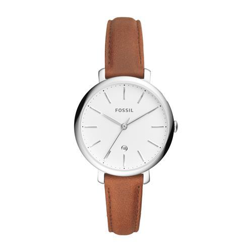 Uhren - Damenuhr Jacqueline mit Lederband, braun  - Onlineshop The Jeweller