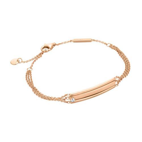 Rosévergoldetes 925er Silberarmband mehrreihig