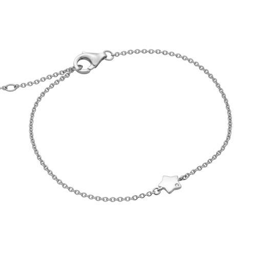 Armbaender - Armband Stern aus Sterlingsilber mit Zirkonia  - Onlineshop The Jeweller