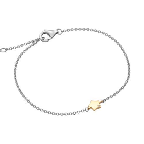 Armbaender - Sternarmband aus 925er Silber mit Zirkonia  - Onlineshop The Jeweller