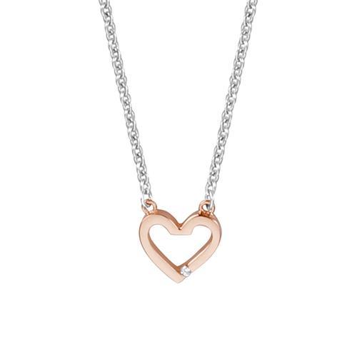 Herzkette Melody aus Sterlingsilber rosé Zirkonia