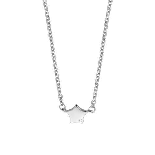 Damenkette Stern aus Sterlingsilber mit Zirkonia