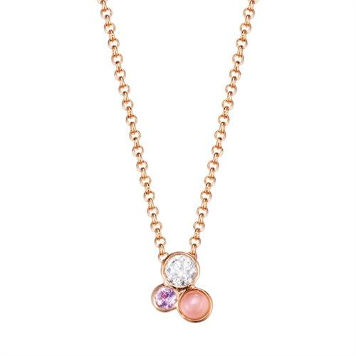 Collier Sweet Parfait Rose Silber