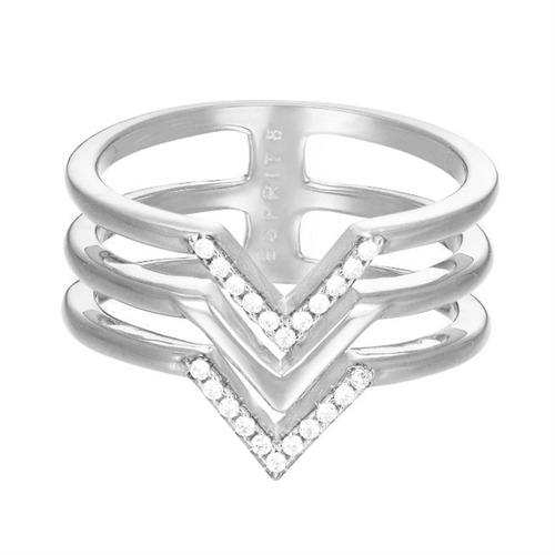Ring für Damen mit Zirkonia-Besatz