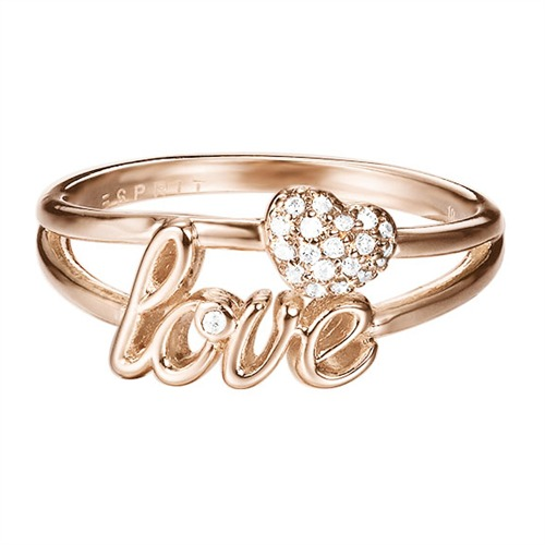 Love Ring rosé Herz Zirkonia
