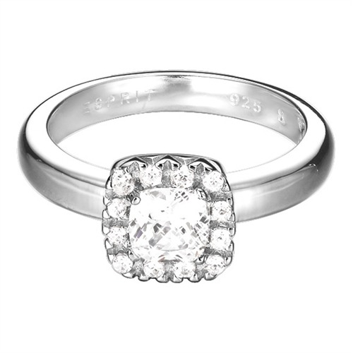 Esprit Silberring ES-Cushion Solitaire ESRG92359B