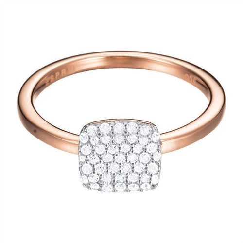 Roségoldener Ring ES-Glam Square Rose