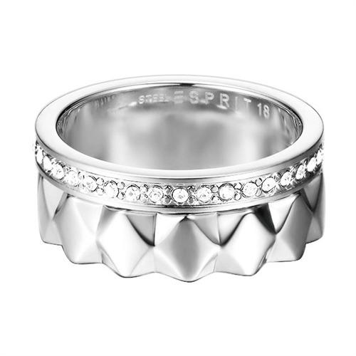 silber Ring gezackt und Zirkonia