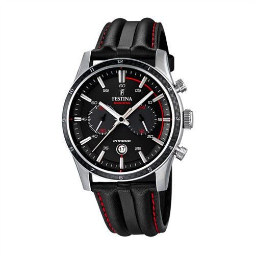 Racing Herrenchronograph schwarz rot