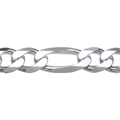 925 Silberarmband: Figaroarmband Silber 13mm