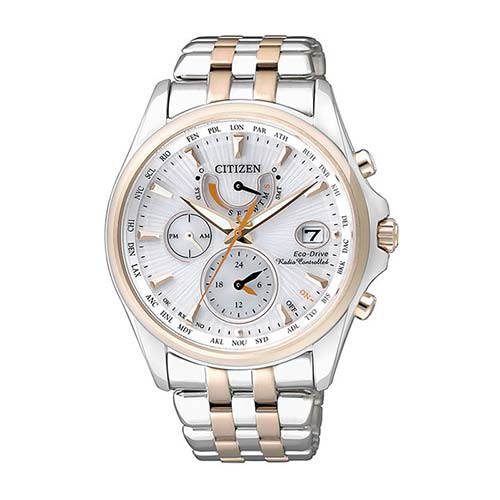 Eco Drive Radio-Controlled Watch For Ladies, Stainless Steel, Rosé