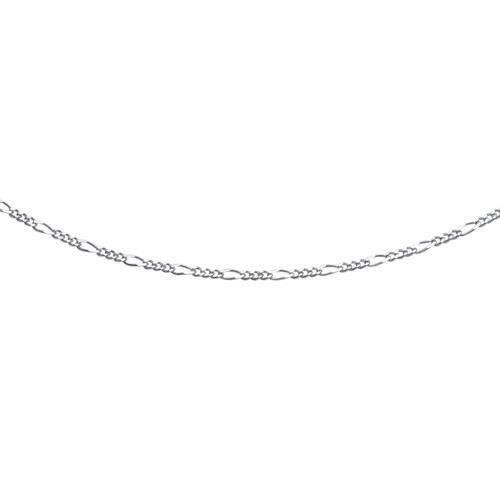 925 Silberkette: Figarokette Silber 2mm