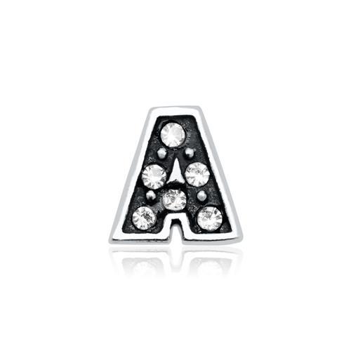 Buchstaben Charm A 925er Silber mit Zirkonia