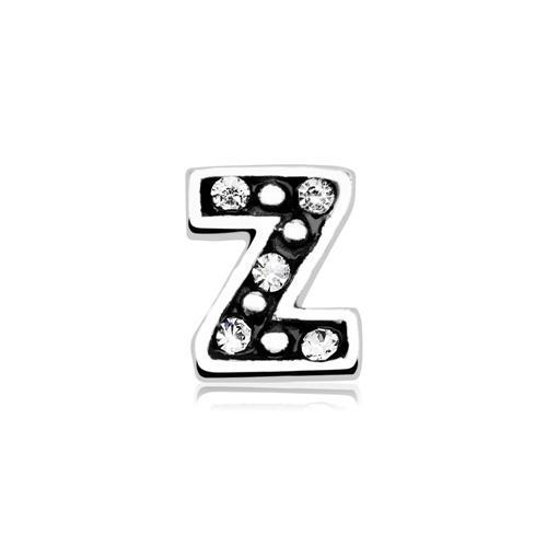 Charm Buchstabe Z 925er Silber Zirkonia