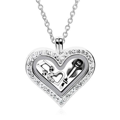 Starterset Medaillon Charms 925er Silber