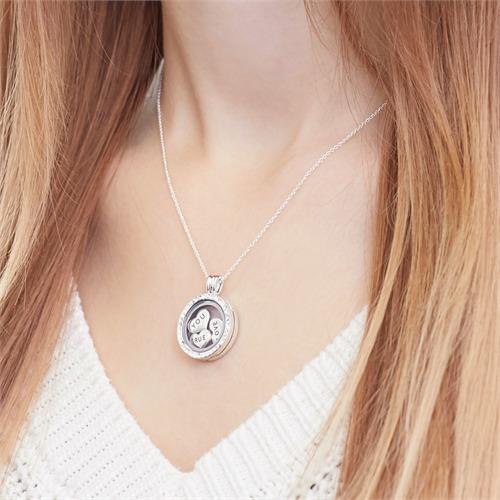 Set True Love Medaillon Charms Silber