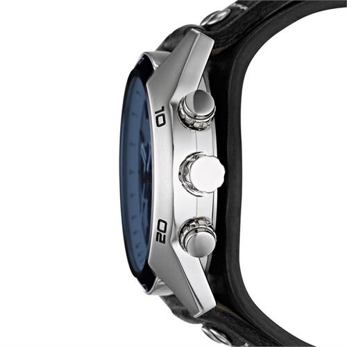Herrenchronograph blau schwarz