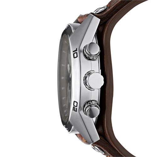 Herrenchronograph silber braun