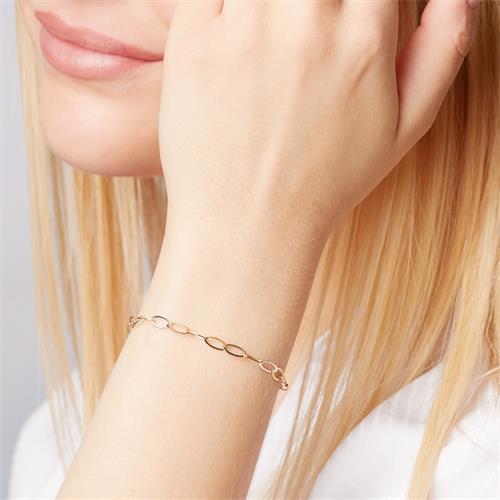 Armband ovale Elemente aus 333er Gold Bicolor