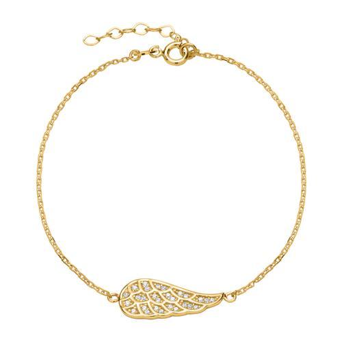 Armband Flügel aus 333er Gold mit Zirkonia