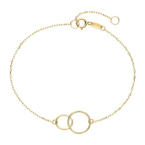 Damenarmband Kreise aus 375er Gold