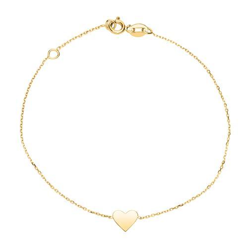 Armbaender für Frauen - Herzarmband für Damen aus 375er Gold, gravierbar  - Onlineshop The Jeweller