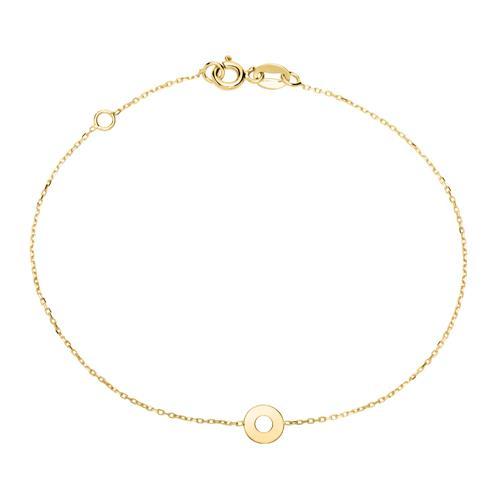 Armbaender für Frauen - Damenarmband Kreis aus 9K Gold  - Onlineshop The Jeweller