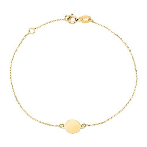 Armbaender für Frauen - Gravierbares Kreisarmband für Damen aus 375er Gold  - Onlineshop The Jeweller