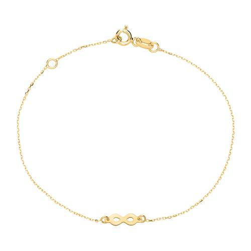 Armbaender für Frauen - 9K Goldarmband Infinity für Damen  - Onlineshop The Jeweller
