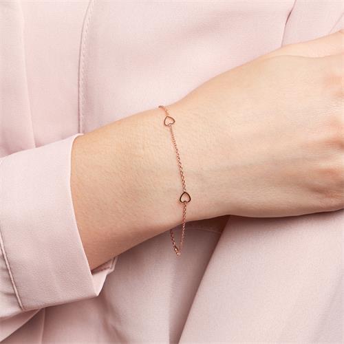 Armband Herzen für Damen aus 14K Roségold