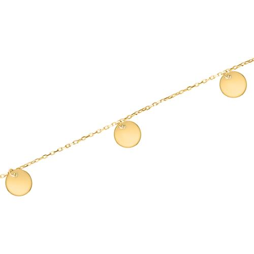 Damenarmband aus 375er Gold mit runden Plättchen