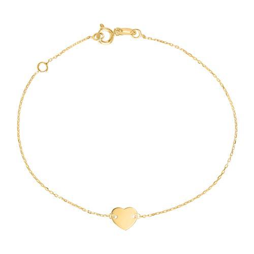 Gravur Armband Herz für Damen aus 9-karätigem Gold