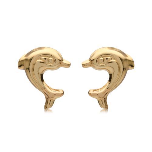 Ohrschmuck im Delfin-Design aus 375er Gold