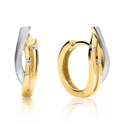 Elegante 333er Gold Creole bicolor