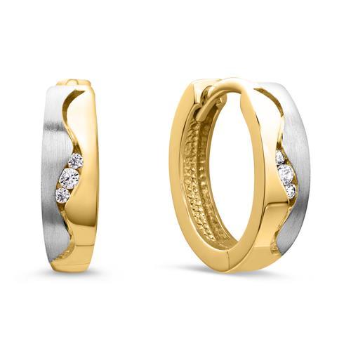Elegante 333er Gold Creole silber gold