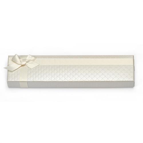 Weißes Geschenketui mit Schleife für Armbänder