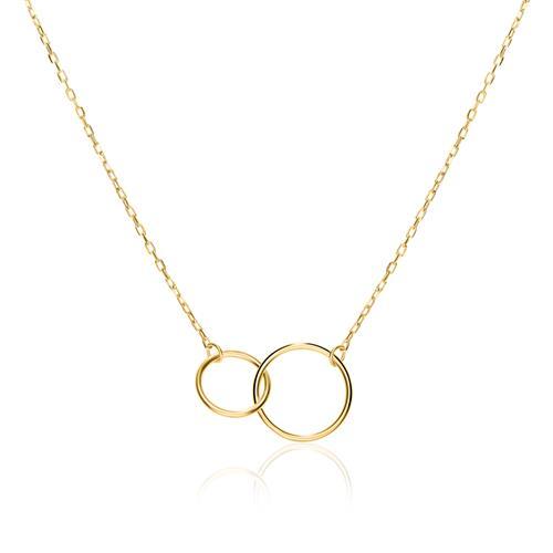 Halskette Kreise für Damen aus 375er Gold