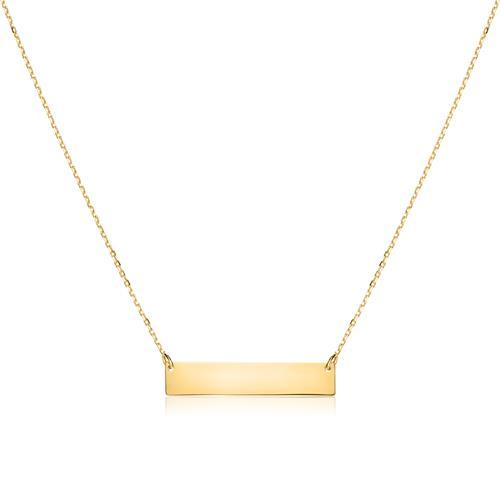 Gravur Kette für Damen aus 375er Gold