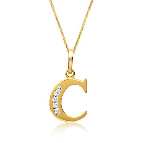 333er Goldkette Buchstabe C mit Zirkonia