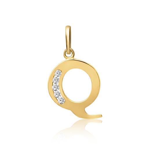 333er Goldkette Buchstabe Q mit Zirkonia