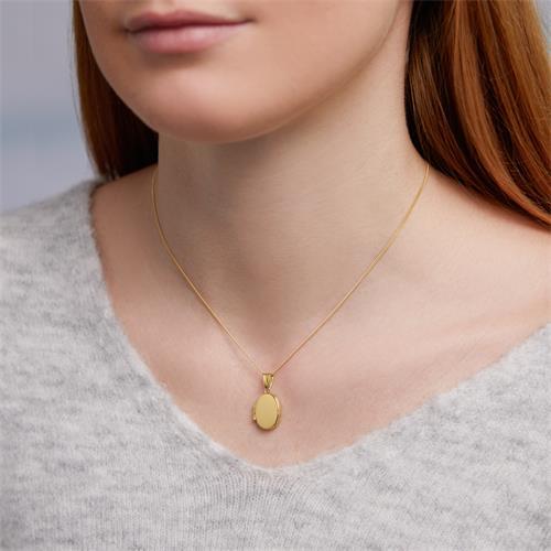 Ovales Medaillon 333er Gelbgold