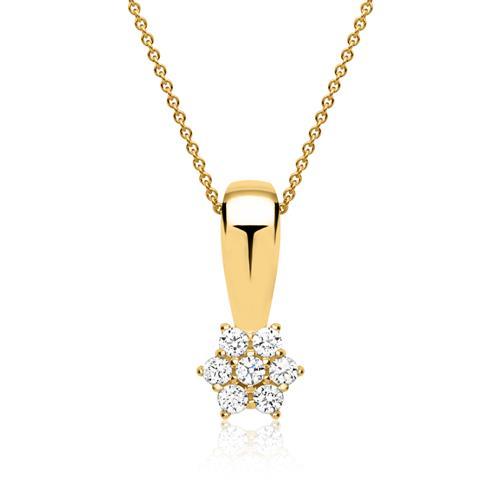 Edle 333er Goldkette mit Zirkonia Stern