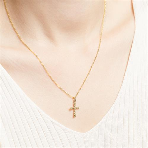 Kreuzkette aus 8-karätigem Gold