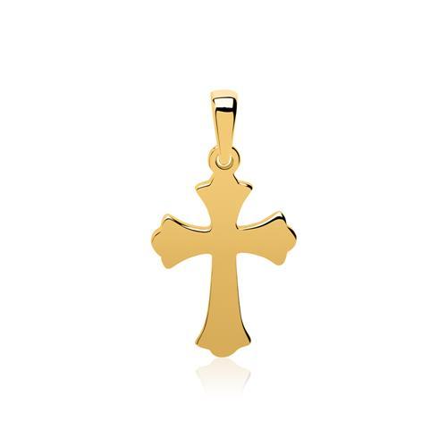 Kette und Anhänger Kreuz aus 333er Gold