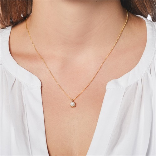 Perlenanhänger aus 14-karätigem Gold